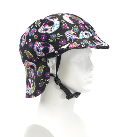 Sun Lidz Helmet Cover - Not So Scary Skulls , One Size - Tail Wags Helmet Covers, Tail Wags Helmet Covers  - 1