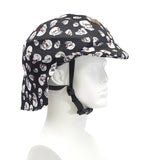 Sun Lidz Helmet Cover - Scary Skulls , One Size - Tail Wags Helmet Covers, Tail Wags Helmet Covers  - 1