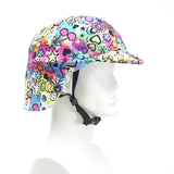 Sun Lidz Helmet Cover - Flower Power , One Size - Tail Wags Helmet Covers, Tail Wags Helmet Covers  - 1