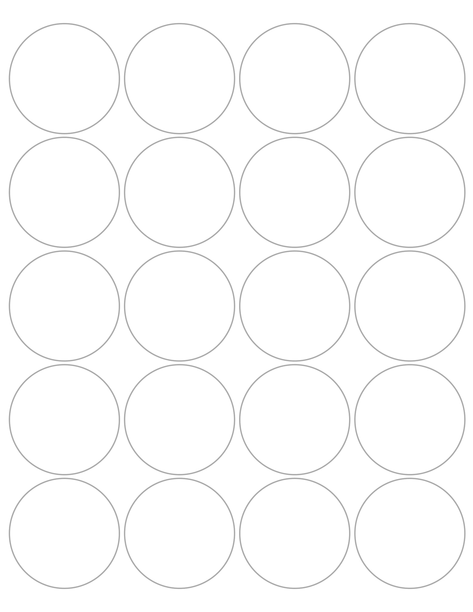 "2"" Circle Stickers (20ct)"