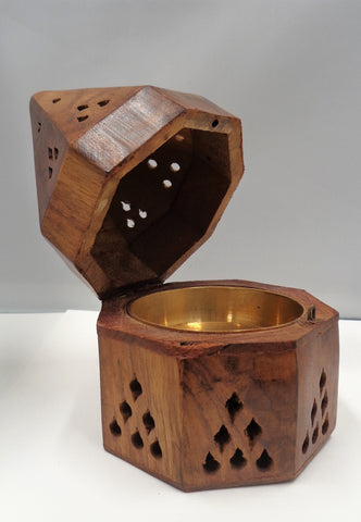 WOODEN CONE OR RESIN BURNER