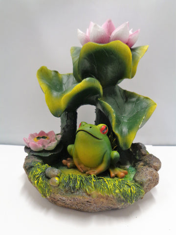 FROG  WITH LOTUS