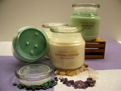 WHITE BUFFALO WOMAN CRYSTAL INFUSED SOY CANDLE