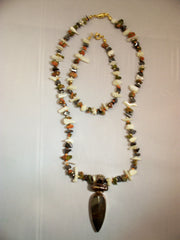 Mookaite, Pearl and Smokey Quartz Necklace & Bracelet set
