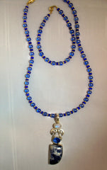 Sodalite, Moonstone and Topaz Necklace and Bracelet Set