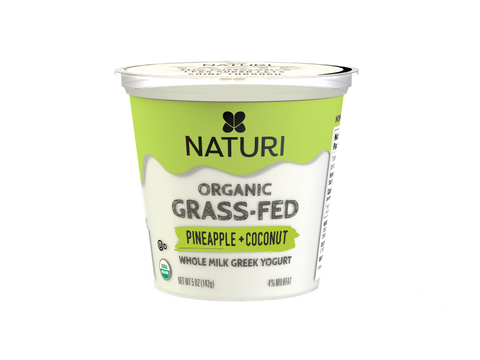 Pineapple + Coconut, Whole Milk, Organic Greek Yogurt Case (12 x 5 oz.)