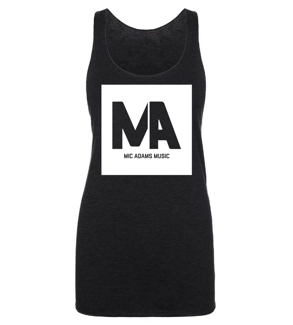 Mic Adams Music Box Ladies Racerback Tank