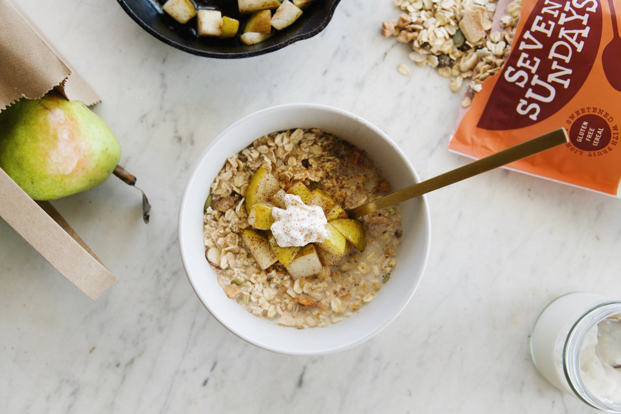 Spiced Pear Muesli Bowl