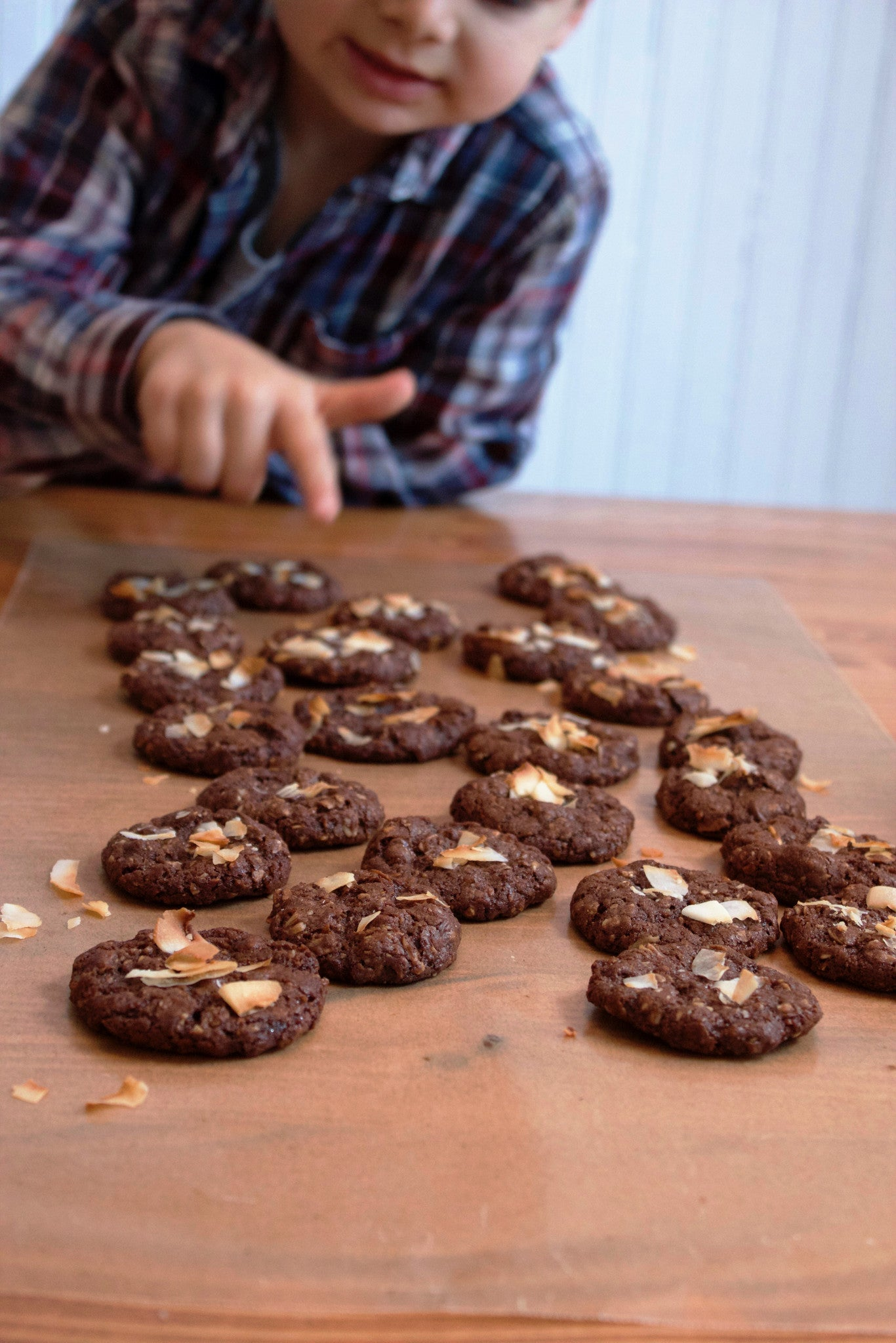 Double Chocolate and Coconut Muesli Cookies
