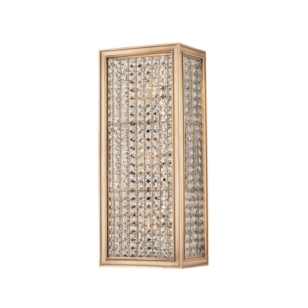 Hudson Valley Lighting 1003-AGB Norwood 3 Light Wall Sconce in Aged Brass