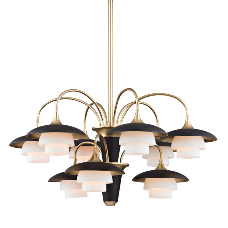 Hudson Valley Lighting 1009-AGB Barron 9 Light Chandelier in Aged Brass
