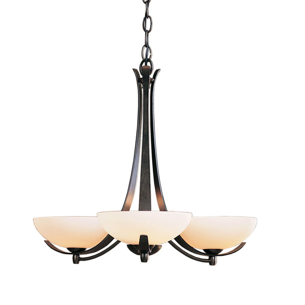 Hubbardton Forge 101260-1006 Ceiling Light Aegis 3 Arm Chandelier in Dark Smoke