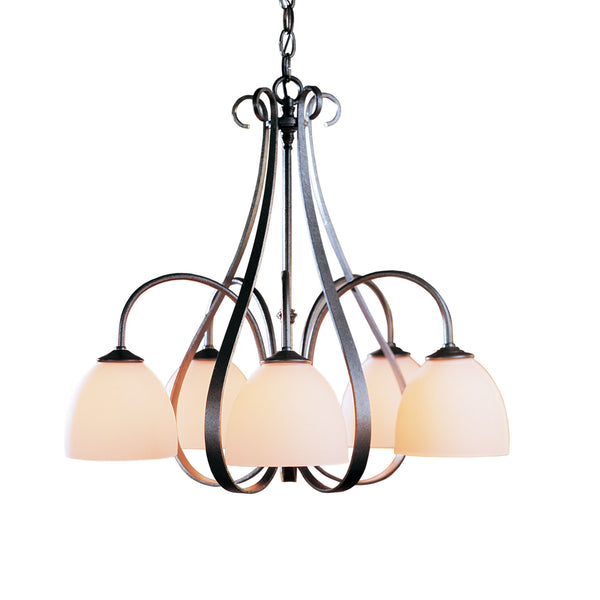 Hubbardton Forge 101445-1015 Ceiling Light Sweeping Taper 5 Arm Chandelier in Natural Iron