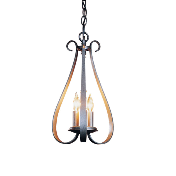 Hubbardton Forge 101473-1005 Ceiling Light Sweeping Taper 3 Arm Chandelier in Natural Iron