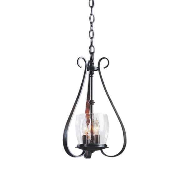 Hubbardton Forge 101474-1002 Ceiling Light Sweeping Taper 3 Arm Chandelier in Dark Smoke