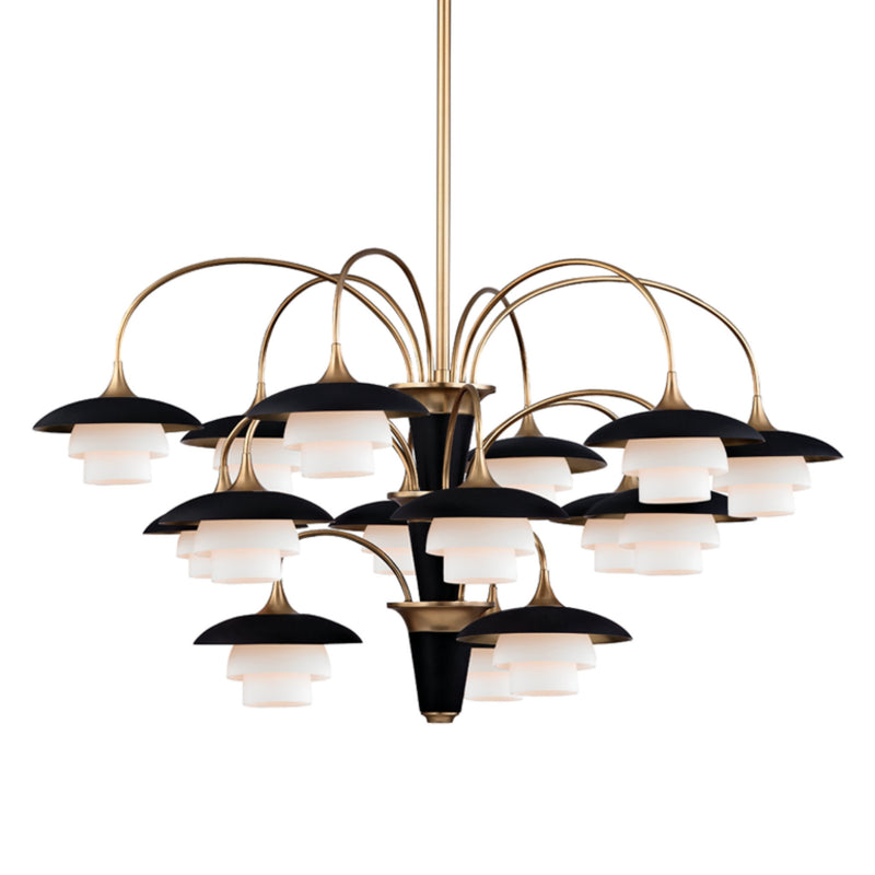 Hudson Valley Lighting 1015-AGB Barron 15 Light Chandelier in Aged Brass