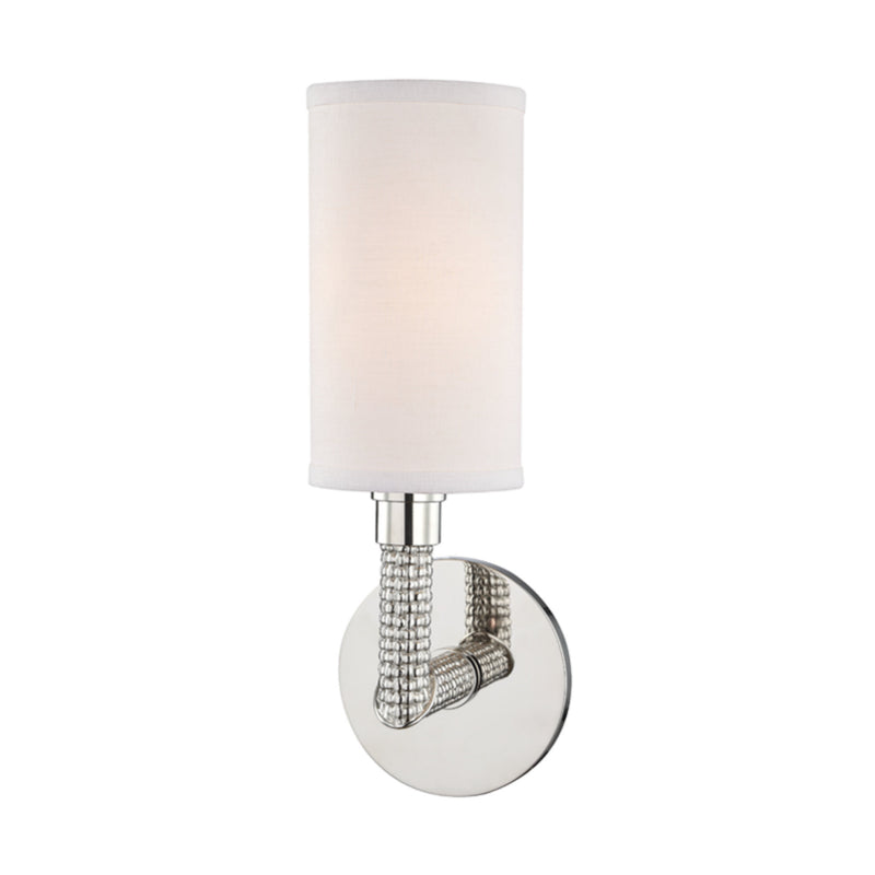Hudson Valley Lighting 1021-PN Dubois 1 Light Wall Sconce in Polished Nickel