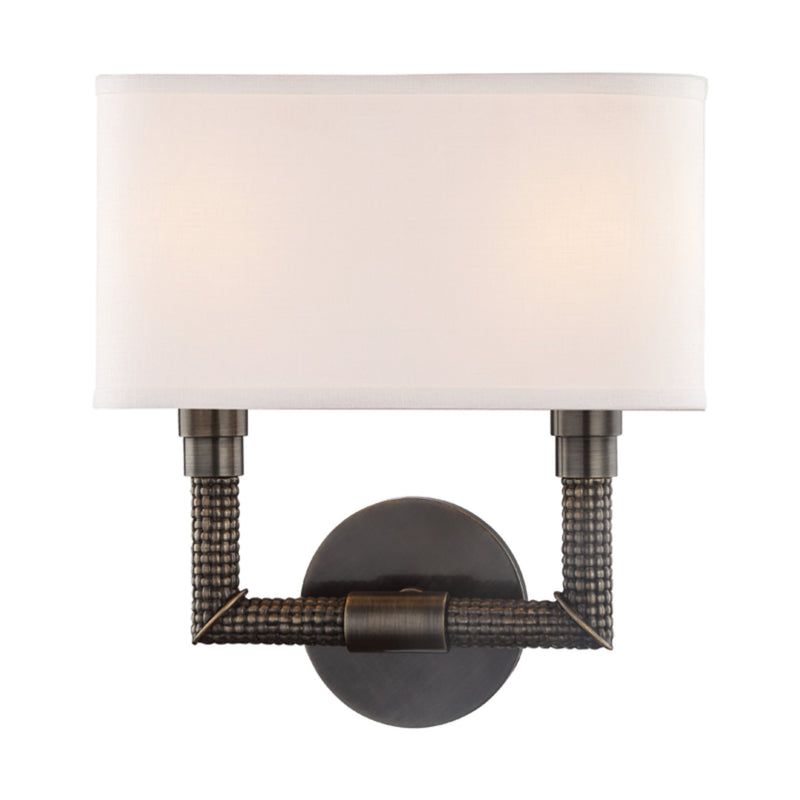 Hudson Valley Lighting 1022-DB Dubois 2 Light Wall Sconce in Distressed Bronze