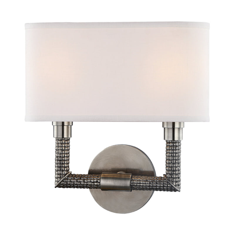 Hudson Valley Lighting 1022-HN Dubois 2 Light Wall Sconce in Historic Nickel