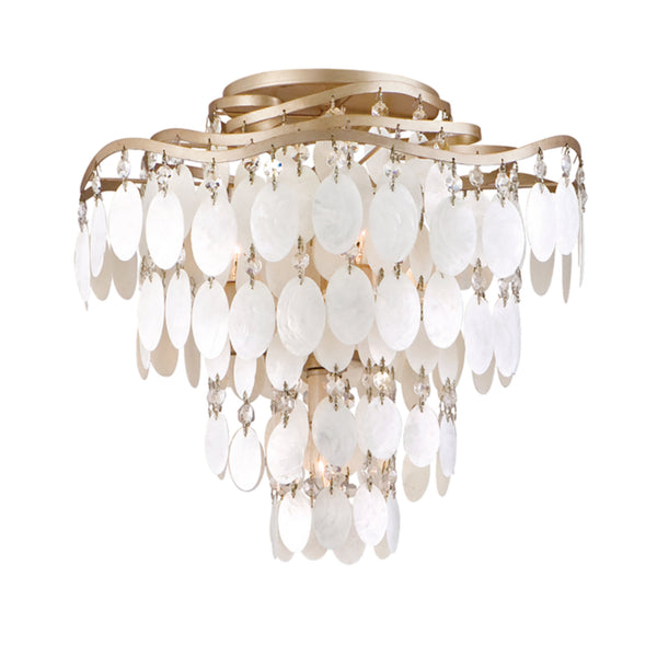 Corbett Lighting 109-34 Dolce 4lt Semi Flush in Hand-Worked Iron