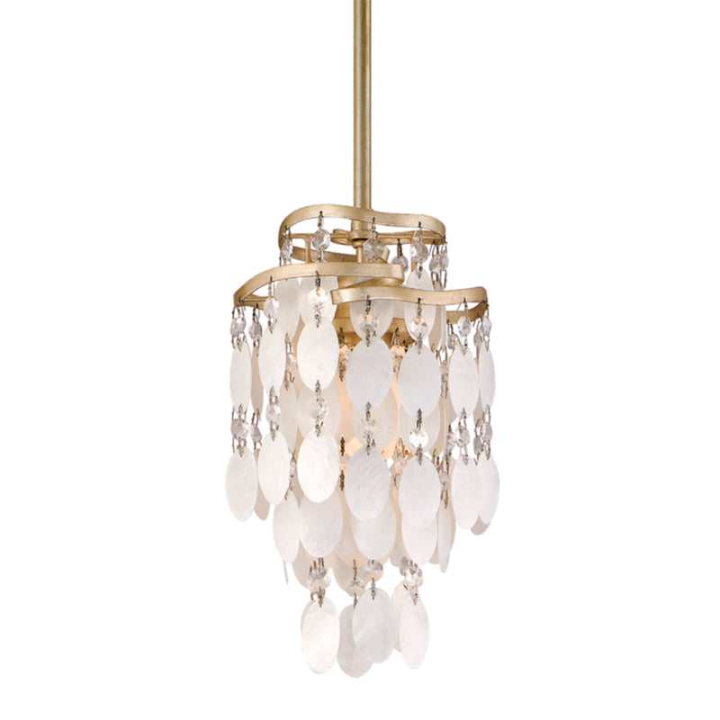 Corbett Lighting 109-41 Dolce 1lt Mini Pendant in Hand-Worked Iron