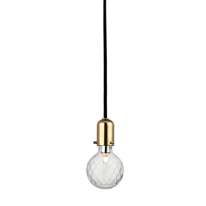Hudson Valley Lighting 1100-AGB Marlow 1 Light Pendant in Aged Brass