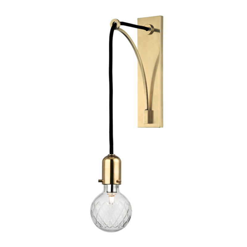 Hudson Valley Lighting 1101-AGB Marlow 1 Light Wall Sconce in Aged Brass