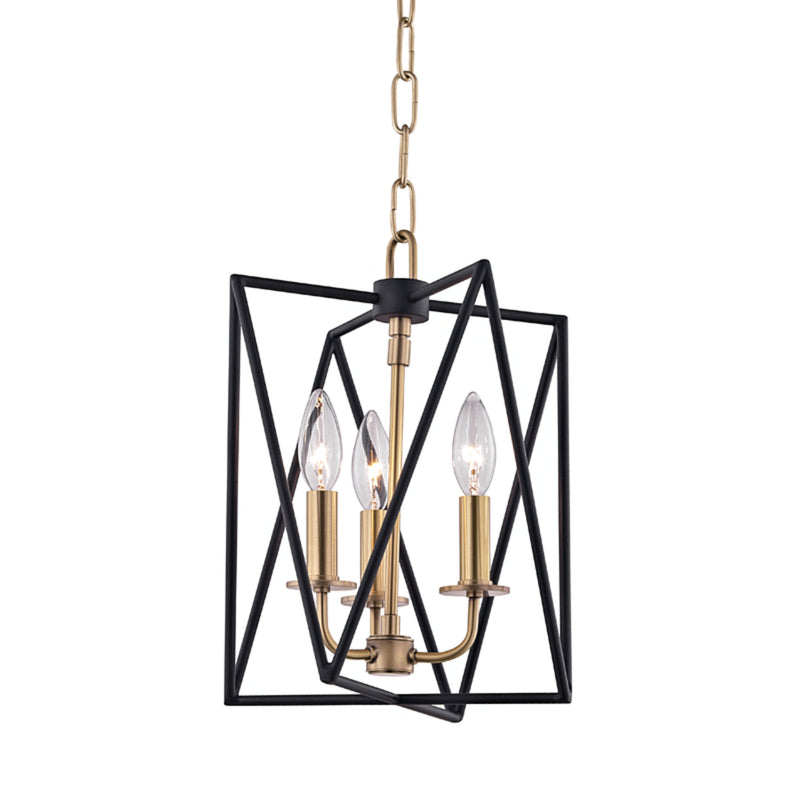 Hudson Valley Lighting 1110-AGB Laszlo 3 Light Pendant in Aged Brass