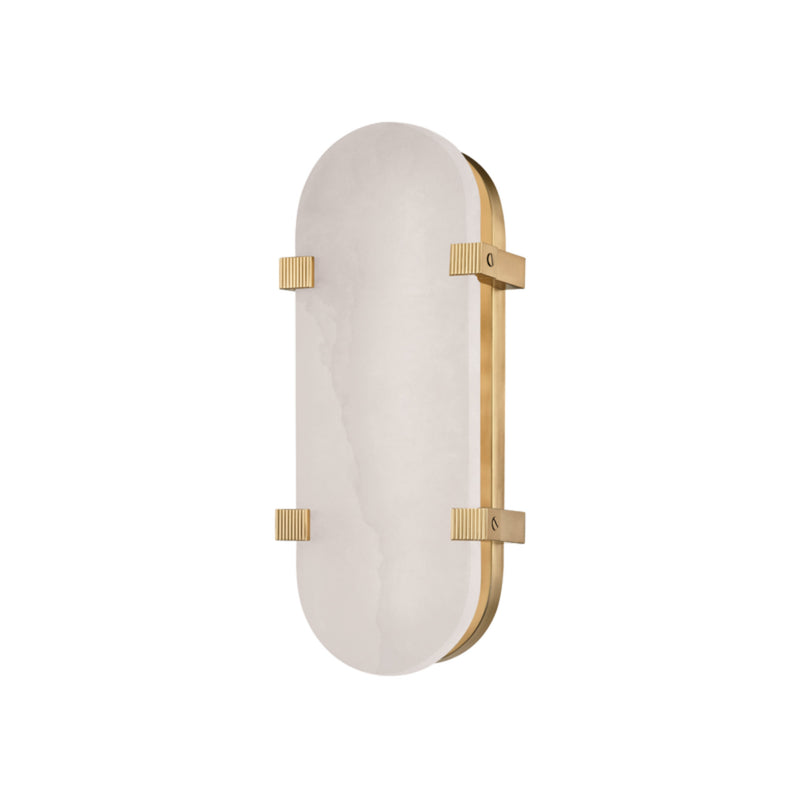Hudson Valley Lighting 1114-AGB Skylar Led Wall Sconce in Aged Brass