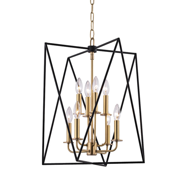Hudson Valley Lighting 1118-AGB Laszlo 8 Light Pendant in Aged Brass