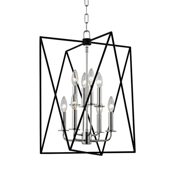 Hudson Valley Lighting 1118-PN Laszlo 8 Light Pendant in Polished Nickel