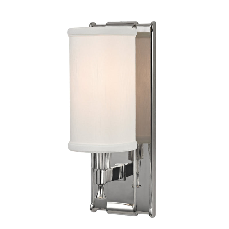 Hudson Valley Lighting 1121-PN Palmdale 1 Light Wall Sconce in Polished Nickel