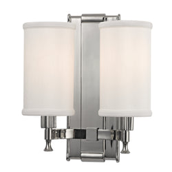 Hudson Valley Lighting 1122-PN Palmdale 2 Light Wall Sconce in Polished Nickel