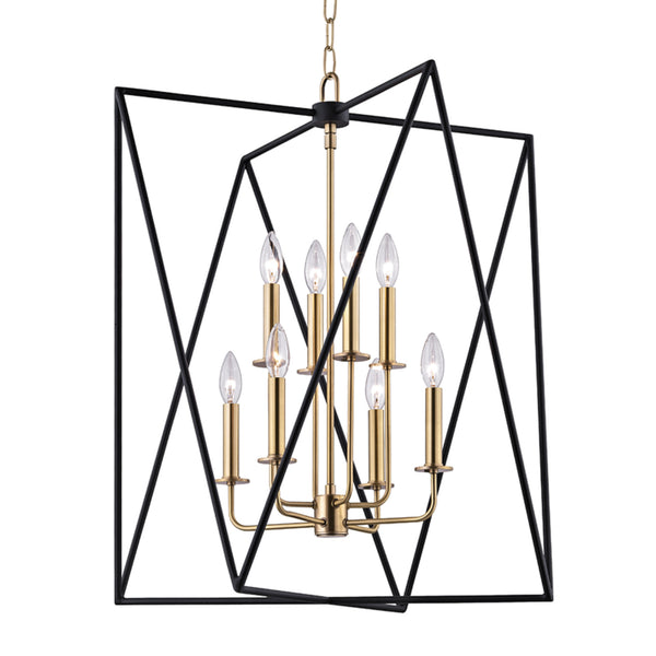 Hudson Valley Lighting 1124-AGB Laszlo 8 Light Pendant in Aged Brass