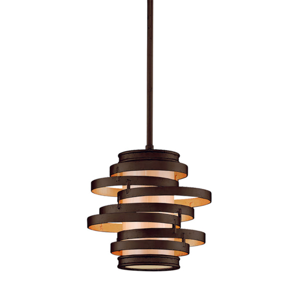 Corbett Lighting 113-41 Vertigo 1lt Mini Pendant in Hand-Worked Iron