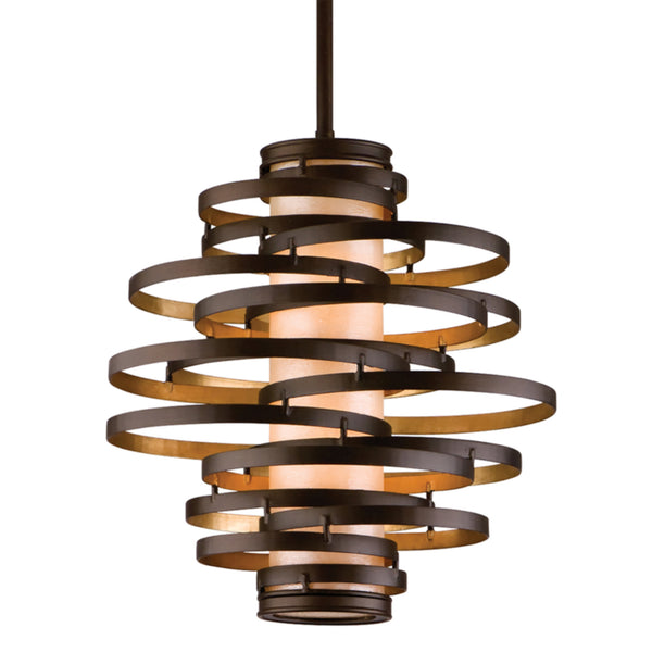 Corbett Lighting 113-42 Vertigo 2lt Pendant Small in Hand-Worked Iron