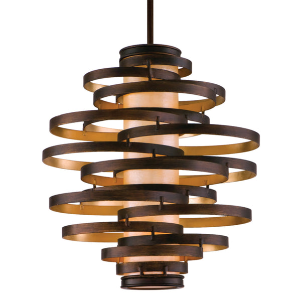 Corbett Lighting 113-43 Vertigo 3lt Pendant Medium in Hand-Worked Iron