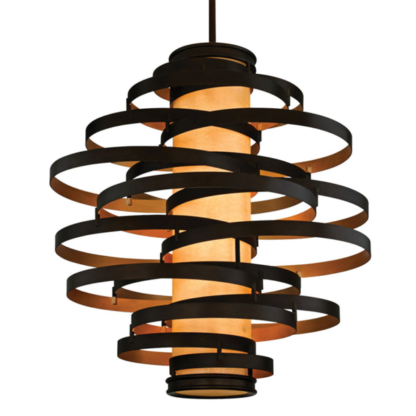 Corbett Lighting 113-76 Vertigo 6lt Pendant Extra Large in Hand-Worked Iron