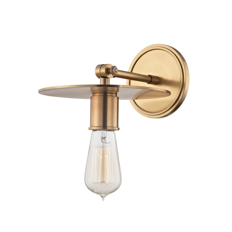 Hudson Valley Lighting 1161-AGB Walker 1 Light Wall Sconce in Aged Brass