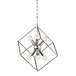 Hudson Valley Lighting 1215-PN Roundout 6 Light Pendant in Polished Nickel