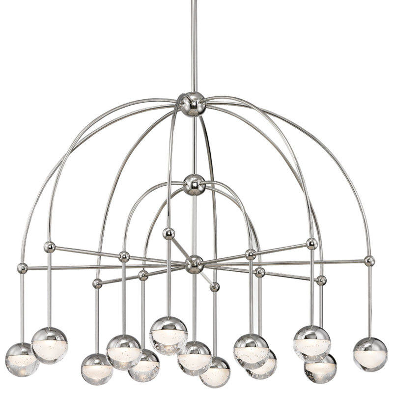 Hudson Valley Lighting 1233-PN Boca Led Chandelier in Polished Nickel
