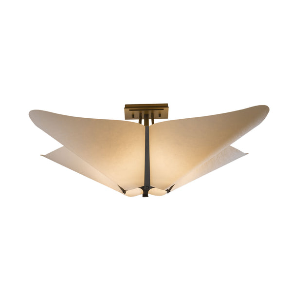 Hubbardton Forge 123305-1006 Ceiling Light Kirigami Semi-Flush in Dark Smoke
