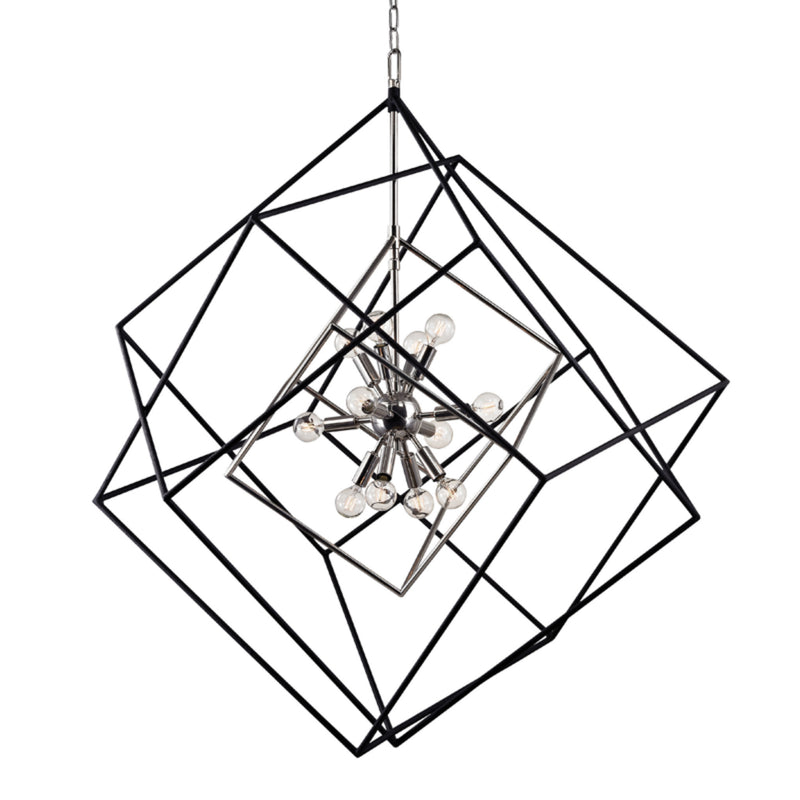 Hudson Valley Lighting 1234-PN Roundout 12 Light Pendant in Polished Nickel