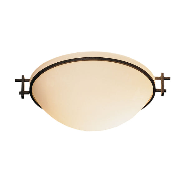 Hubbardton Forge 124251-1010 Ceiling Light Moonband Semi-Flush in Natural Iron