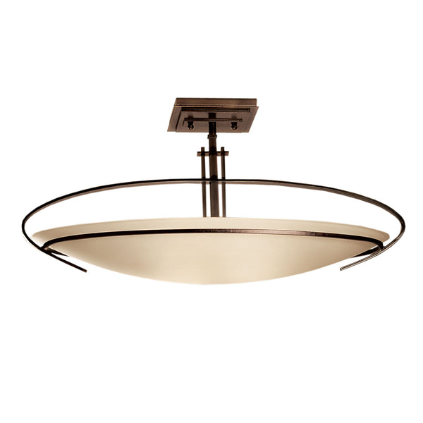 Hubbardton Forge 124341-1002 Ceiling Light Mackintosh Semi-Flush in Dark Smoke