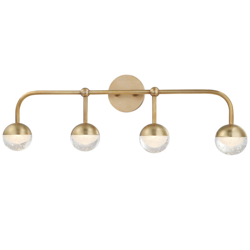 Hudson Valley Lighting 1244-AGB Boca Led Bath Bracket in Aged Brass