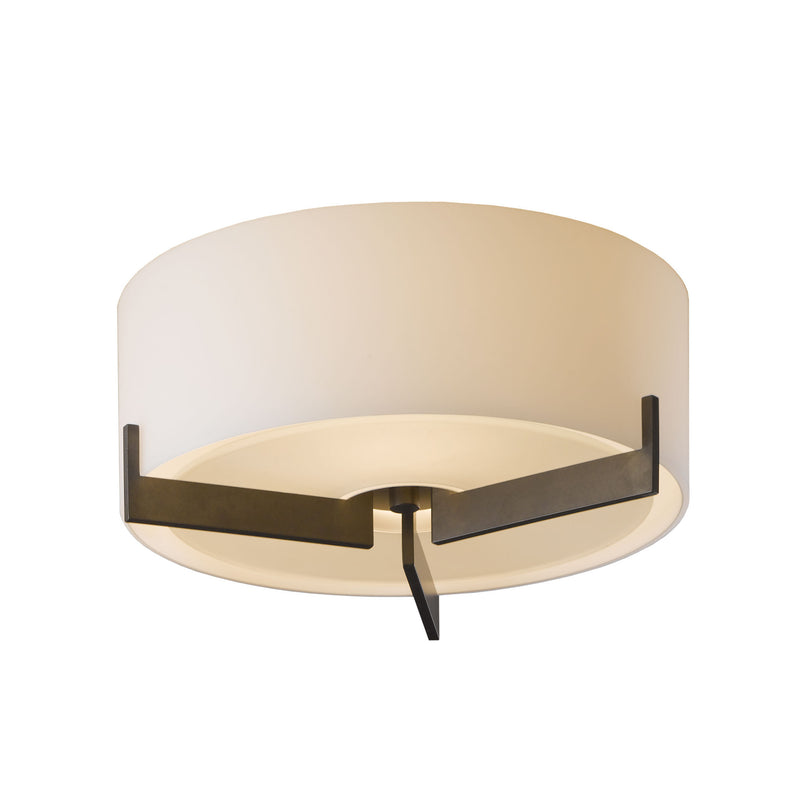 Hubbardton Forge 126401-1006 Ceiling Light Axis Flush Mount in Dark Smoke