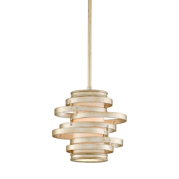 Corbett Lighting 128-41 Vertigo 1lt Mini Pendant in Hand-Worked Iron