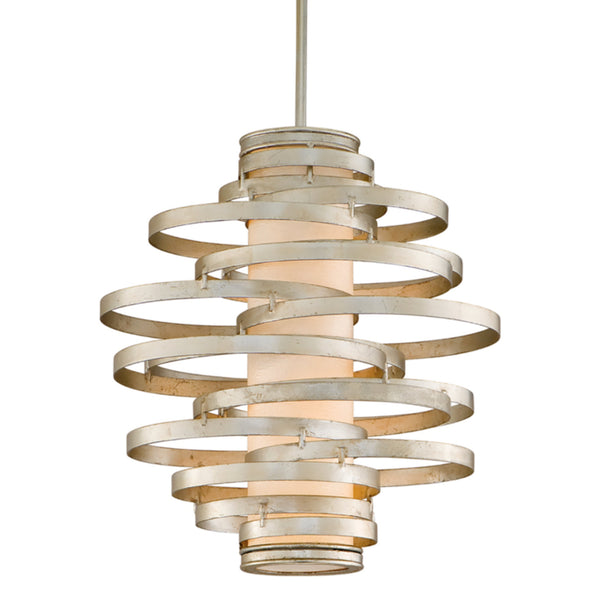 Corbett Lighting 128-42 Vertigo 2lt Pendant Small in Hand-Worked Iron