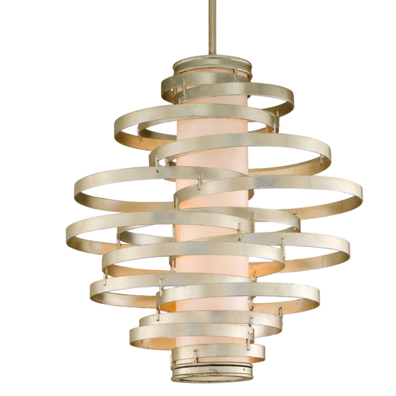 Corbett Lighting 128-44 Vertigo 4lt Pendant Large in Hand-Worked Iron